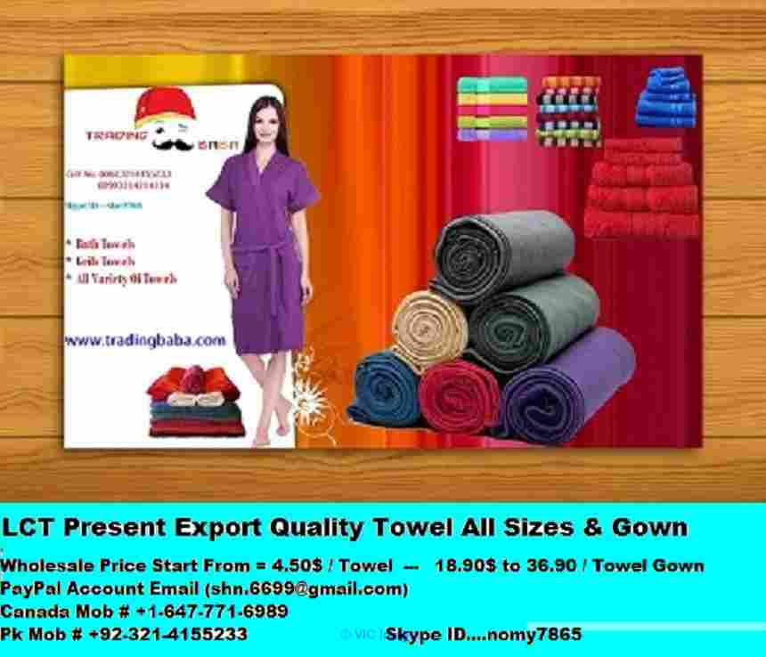 Cotton towels for home beach hotels Wholesale rates Ottawa, Ontario, Canada Annonces Classées