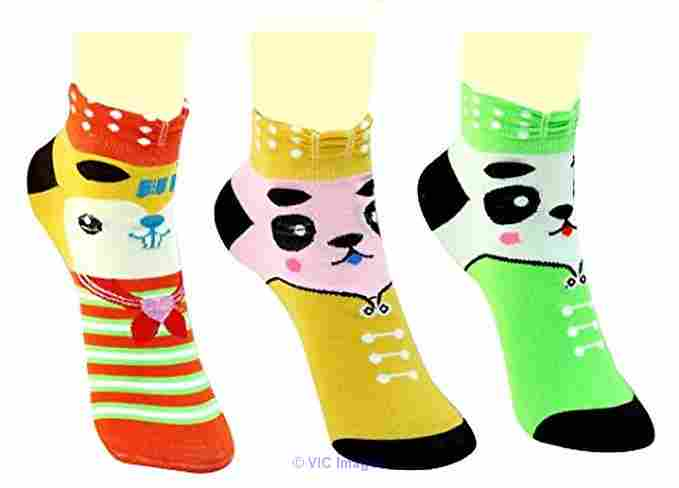 3 Pairs Women�s Cotton Embellished Crew Length Socks ottawa