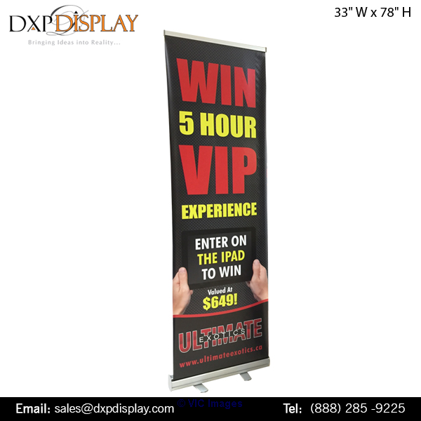 Pull-Up Retractable Banner Stands | Perfect Addition to Any Trade B ottawa