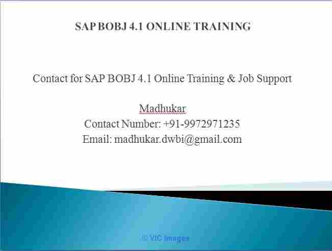 Business Objects Training And job support BO expert ottawa