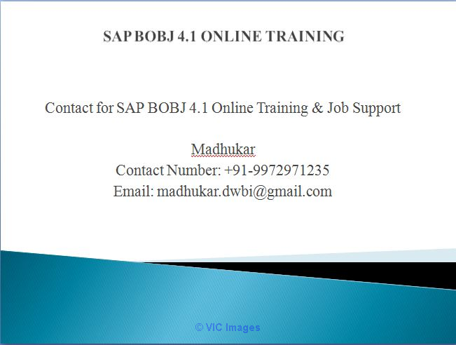 SAP BusinessObjects Business Intelligence online training with live pr Ottawa, Ontario, Canada Classifieds