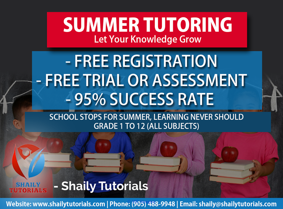 At Shaily, We Offer Tutor/Teacher Service. Ottawa, Ontario, Canada Classifieds