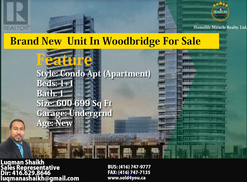 Brand New Unit In Woodbridge For Sale  Ottawa, Ontario, Canada Annonces Classées