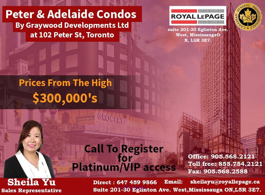 Peter & Adelaide Condos By Graywood Devolopments Ltd at 102 peter st,  Ottawa, Ontario, Canada Annonces Classées