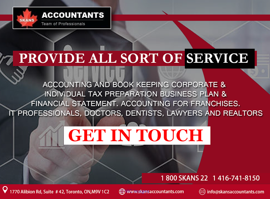 Trust SKANS ACCOUNTANTS To Deal With It All.  Ottawa, Ontario, Canada Classifieds