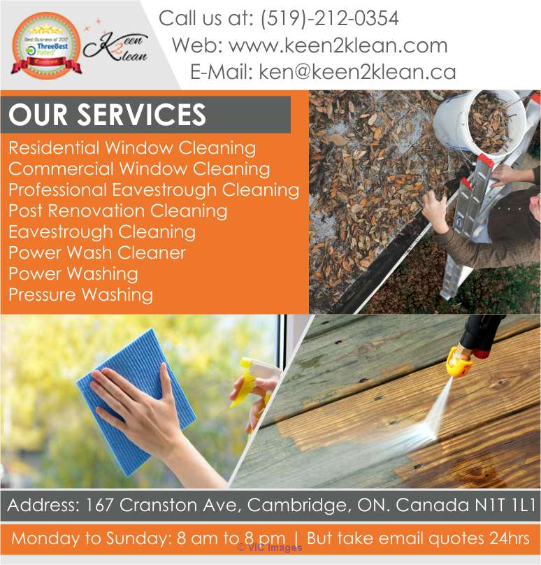 Power Washing Brantford | Keen 2 Klean Windows Ottawa, Ontario, Canada Annonces Classées