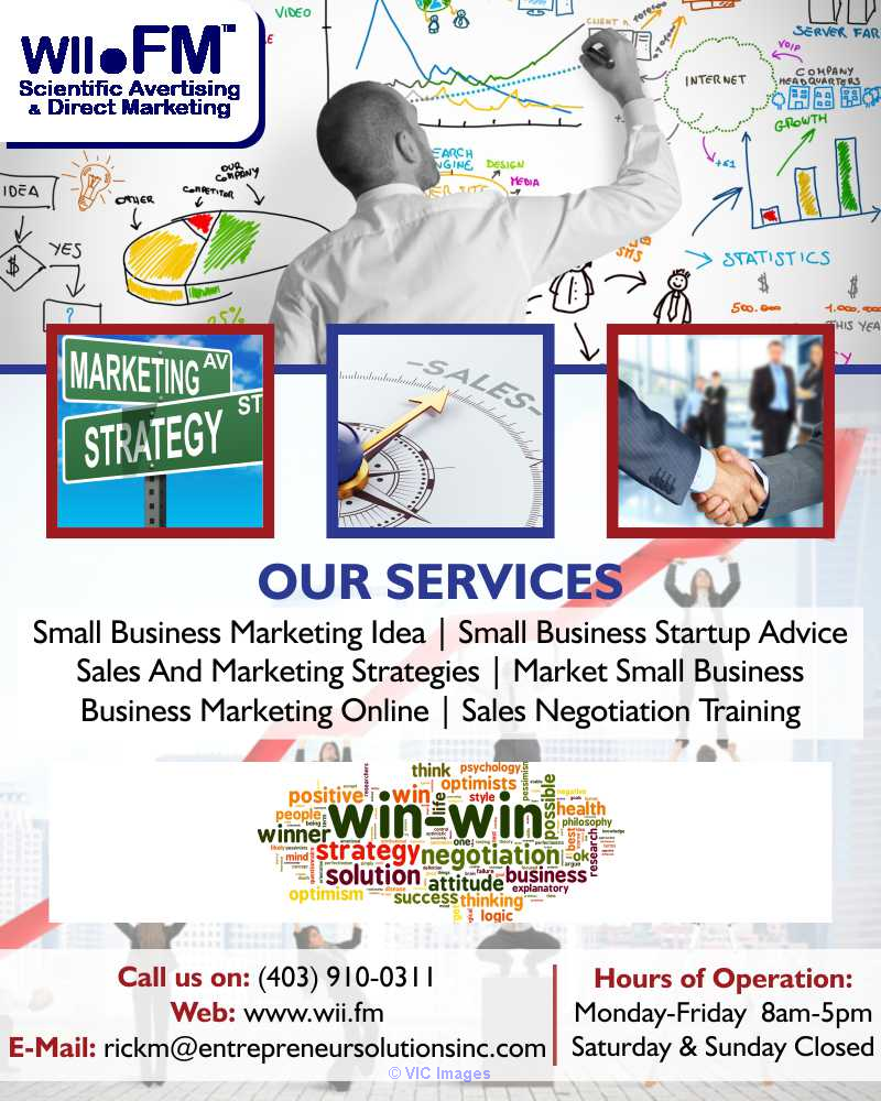 Small Business Startup Advice Calgary | wiiFM Scientific Advertising a Ottawa, Ontario, Canada Classifieds