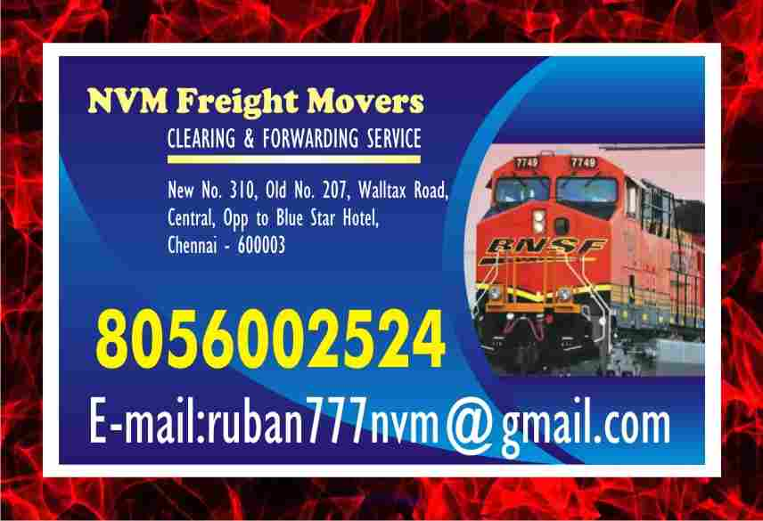 No. one NVM freight Movers in Chennai Freight Movers | 940 | Rs 7/-   Ottawa, Ontario, Canada Annonces Classées