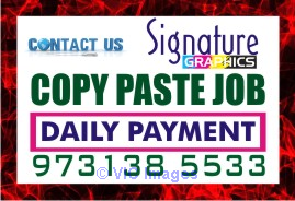 Simple Online Cut Copy paste Job No Registration fee Daily payout ottawa