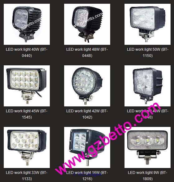 Factory wholesale LED driving light, LED worklight, LED work light ottawa