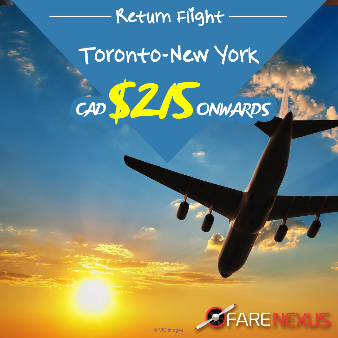 Cheap air tickets | Toronto - New York | CAD $215 Onwards ottawa