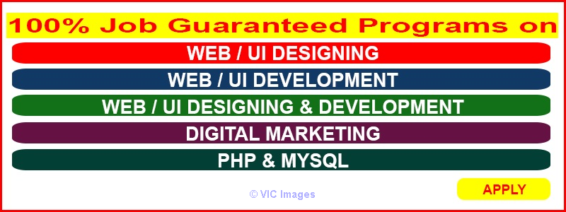 100% job guaranteed program on WEB DESIGNING AND DEVELOPMENT ottawa