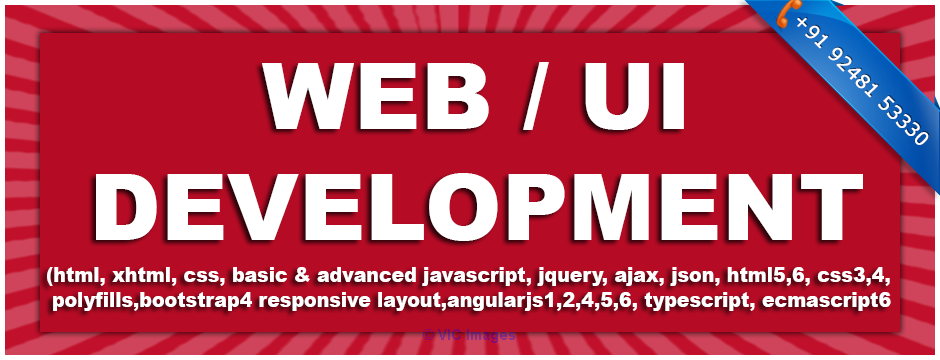 Classroom WEB UI DEVELOPMENT TRAINING COURSE in Ameerpet Hyderabad ottawa
