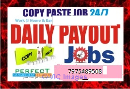 Bangalore Copy paste job | Daily Income | work at home earn daily paym