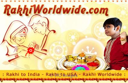 Make you sibling happy and spread elegance as you Send Rakhi to USA  ottawa