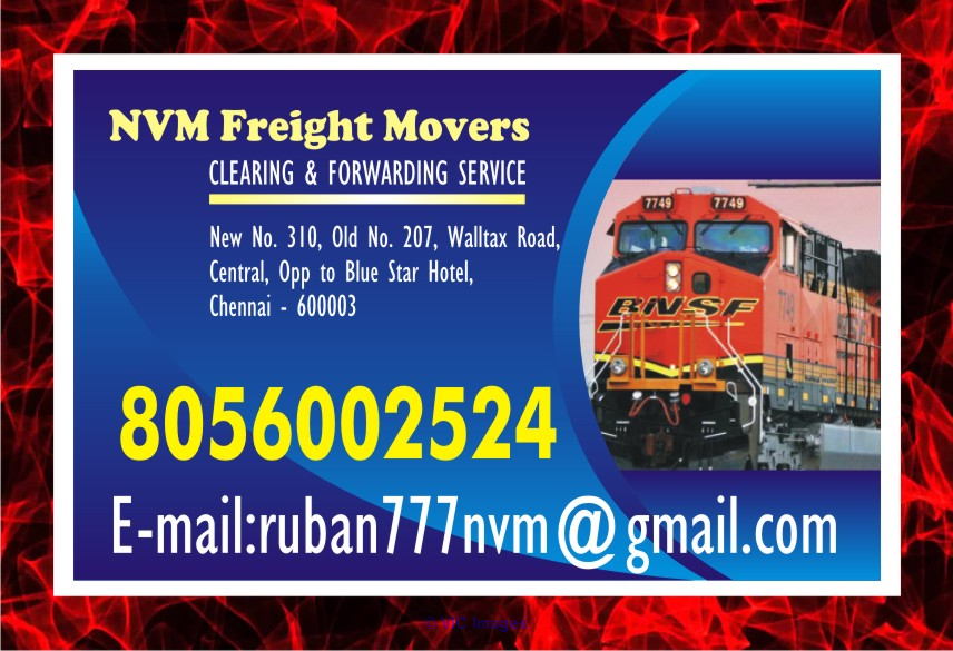 Chennai Rly. Clearing Agency | NVM Freight Movers Sine 1979 | 80560025