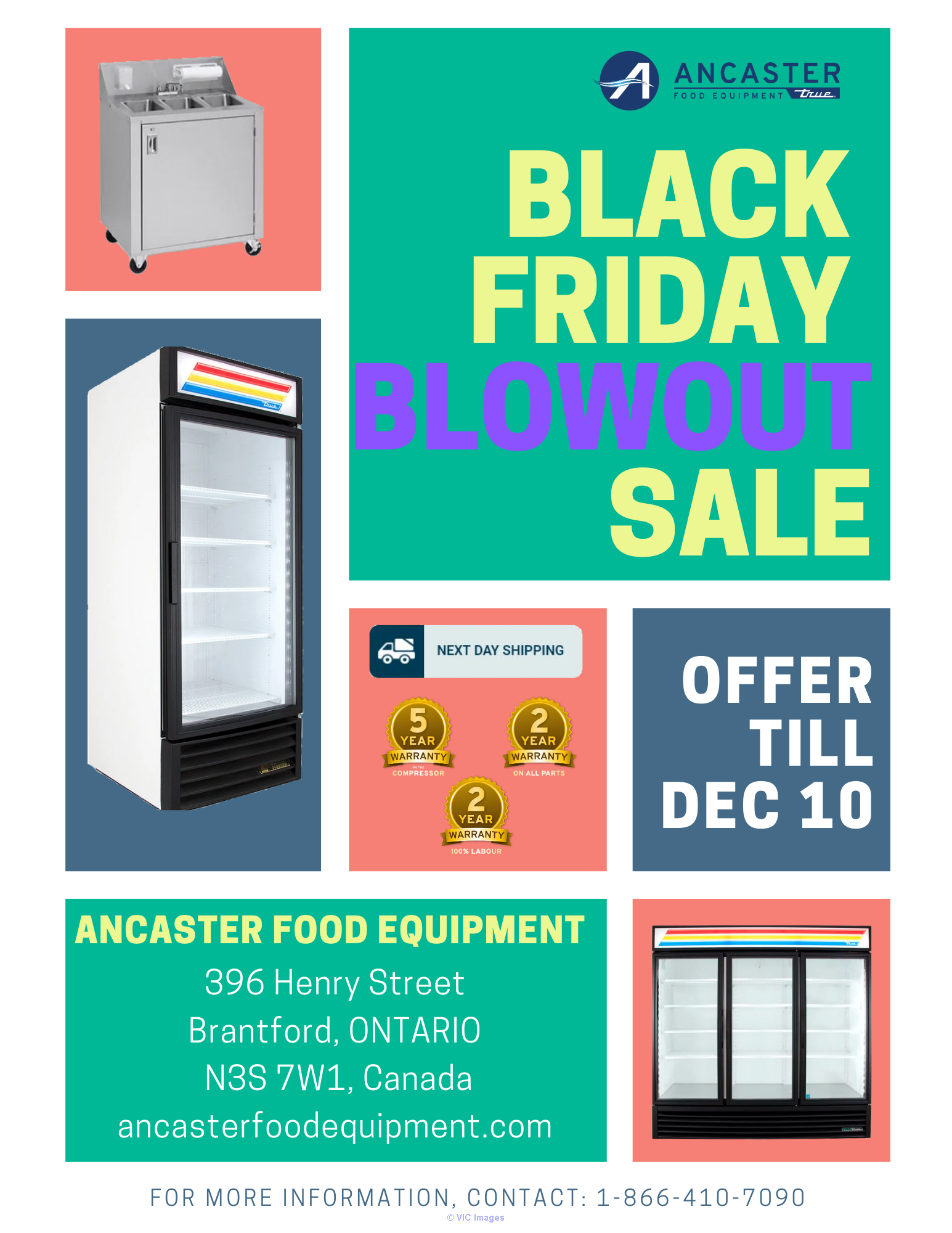 Ancaster Black Friday BlowOut Sale- Refurbished Coolers and Freezers ottawa